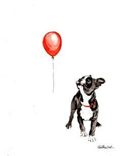 Boston vs. balloon Art Print
