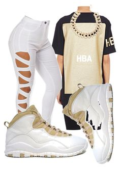 """""""Air Jordan 10 Collection"""" by trillest-boss ❤ liked on Polyvore featuring Hood by Air and Retrò"""