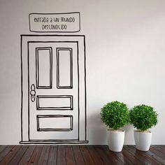 Hadas y ratones viviendo en nuestra casa - Primera parte Cafe Design, Store Design, Graffiti Furniture, Washi Tape Wall, Indian Room, Door Murals, Tape Art, Wall Drawing, Home Room Design
