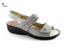 GRÜNLAND Sandales Pour Femme Gris Gris - - Gris - Gris, 37 EU