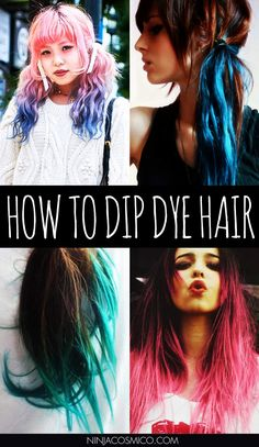 How to Dip Dye Hair – Always wanted to Dip Dye your Hair? Then look not further! We'll bring you cool tips and also some hairstyle ideas to create your perfect hair look! Read the article here: http://ninjacosmico.com/how-to-dip-dye-hair/