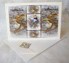 """Hochzeitskarte """"Eheringe""""  von PHOTOGLÜCK auf DaWanda.com"""