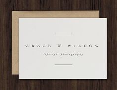 Grace & Willow is dainty and spare, the perfect logo design for a refined and lovely brand. The magic of Grace & Willow is in the subtle