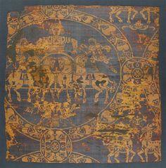 Samit au Quadrige, dit Suaire de Charlemagne, vers 800, samit façonné, soies…