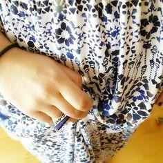 Blue Plexiglass ring by VictoriaKdesigns