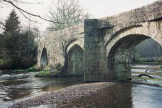 RESPRYN BRIDGE | Cornwall: On the River Fowey ✫ღ⊰n Old Bridges, Water Mill, Brooklyn Bridge, Cornwall, England, River, History, Country, Places