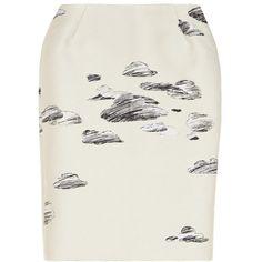 Vika Gazinskaya Jacquard pencil skirt ($1,125) ❤ liked on Polyvore