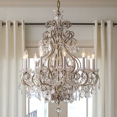 Chandelier Crystals Vintage Ideas Make Your Home More Beautiful With A Classy Chandelier Chandelier Crystals Vintage Ideas. A chandelier can be an ideal option for lighting in your home. Chandelier Bedroom, Luxury Chandelier, Antique Chandelier, Glass Chandelier, Bedroom Lighting, Home Lighting, Chandelier Lighting, Lighting Design, Crystal Chandeliers