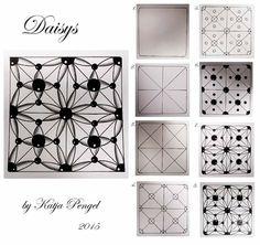 My new zentangle pattern DAISYS