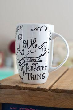 Typography Coffee Mug by TwoPugsAndaBaby on Etsy, $12.00
