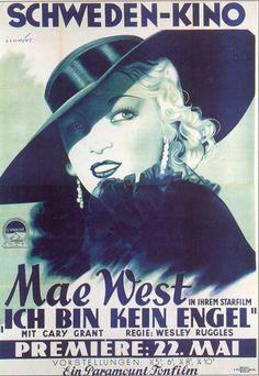 I'm No Angel (Swedish) 11x17 Movie Poster (1933)