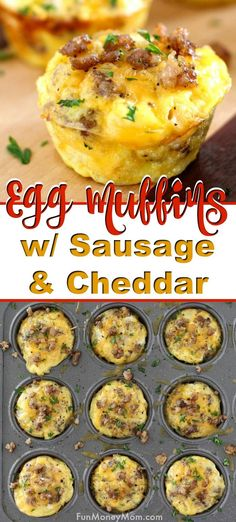Mini Egg Muffins, Sausage Egg Muffins, Sausage And Egg, Keto Egg Muffins, Mini Eggs, Turkey Sausage, Egg Recipes, Brunch Recipes, Cooking Recipes