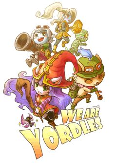 League of legends Fan Art - Rivenop: Photo this needs to be redone to add Gnar because he really is the cutest yordle