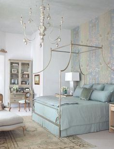 Love the 1 wall wallpapered! trends for bedroom interiors