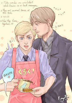 "kayr801: ""Bottom Erwin week, day 2: Around the house! MikEru (reversible) is my fav OTP after EruRi *w*)9 """