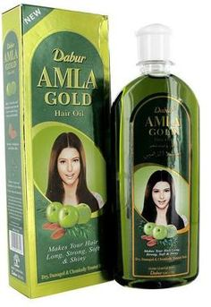 The NEW Dabur Amla Gold Hair Oil makes your hair long, strong, soft and shiny. Perfect for dry, damaged and chemically treated hair. This gold formula contains 3 key ingredients: Amla, Almonds, and Henna. Amla nourishes and strengthens your hair from the roots to make it long, strong and beauiful. Almonds moisturises and softens your hair, while Henna coats and conditions to give it shine.