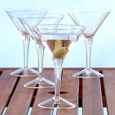 Acrylic Martini Glass, Set of 4   World Market Everyone loves a good dirty or pomegranate martini made by moi!