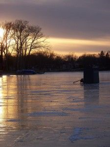 Safety tips for ice fishers. We really want to ice fish next winter!
