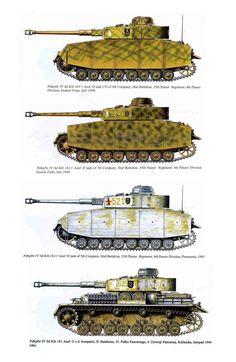Panzer IV Ausf. H de la 5. Kompanie, II Abteilung, 4. Panzerdivision 1944-1945