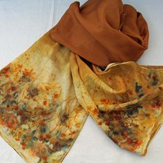 Summer flowers silk scarf