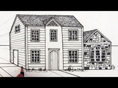 How to Draw a House in One-Point Perspective: Narrated - YouTube