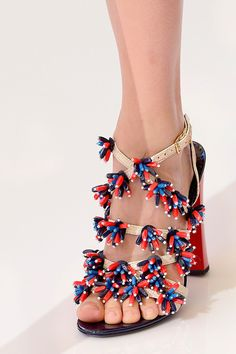 Tory Burch Summer Beaded Sandals 2013 - I could have some fun in these