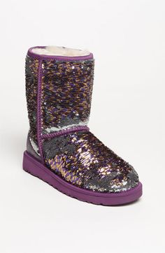 Purple and gold Sparkly UGGS. Perfect to jazz up any outfit!