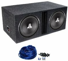 """Package: (2) JL Audio 12W0V3-4 12"""" 1200 Watt 4 Ohm Car Stereo Subwoofers with DMA Optimized Motor System + Atrend Dual 12"""" Divided Subwoofer Enclosure + Dual Enclosure Wiring Kit With 14 Gauge Speaker Wire + Screws + Spade Terminals by JL Audio. $239.95. Package: (2) JL Audio 12W0V3-4 12"""" 1200 Watt 4 Ohm Car Stereo Subwoofers with DMA Optimized Motor System + Atrend Dual 12"""" Divided Subwoofer Enclosure + Dual Enclosure Wiring Kit With 14 Gauge Speaker Wire + Screws + Spad..."""