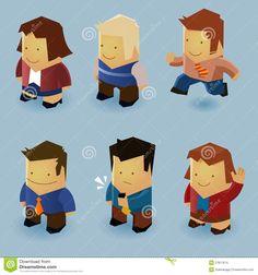 isometric vector character - Google Search