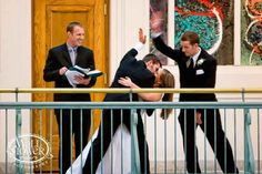 HAHA, YES!!! Groom/best man high five
