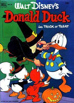 Walt Disney's Donald Duck In Trick Or Treat - 1950's