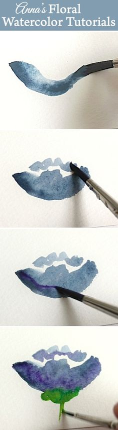 20 Delicate Colorful Watercolor Flower Painting Tutorials In Images-HOMESTHETICS (3)