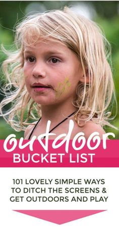 Outdoor activities for kids bucket list – an awesome fun summer bucket list for kids to get children playing outside screen free. Loads of easy & cheap creative DIY natural activities, adventures and crafts for garden and road trips. Ideas for boys an List Of Outdoor Activities, Outdoor Learning, Summer Activities For Kids, Summer Kids, Toddler Activities, Diy For Kids, Fun Activities, Cool Kids, Crafts For Kids