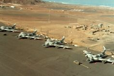 Victor K2's of 57Sqn RAF at Wideawake airfield, Ascension Island, April 1982 during the Falklands War.
