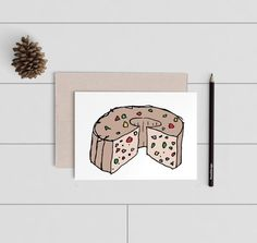 Funny Christmas Card - Fruitcake Christmas A2 Card - Humorous Holiday Card - Digitally Printed Cards w/ envelope - pw040card