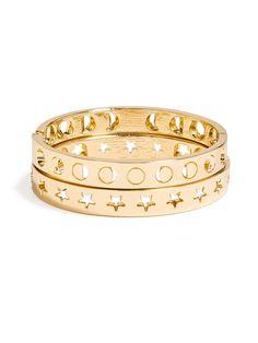 star and moon bangles