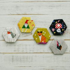 Into the Woods a paper piecing hexagon par TinyToffeeDesigns                                                                                                                                                                                 More