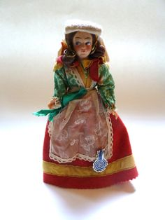 Vintage Italian Doll - International Doll - Traditional Costume - Travel…