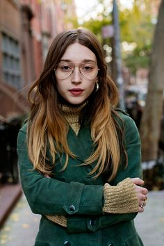 Check out On the Street...West 9th St., New York, one of the exclusive pictures shot by Scott Schuman in New York for Faces by The Sartorialist.