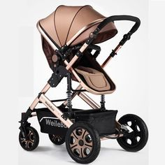 High-view, Aluminum Alloy, Shock Absorption, Portable, Bidirectional and Foldable Stroller for Baby to Sit or Lie down
