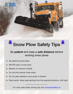 Snow plow safety tips poster 2014.bmp Canadian Red Cross, Shoveling Snow, Snow Plow, Braveheart, Safety Tips, Tandem, Poster, Ideas, Thoughts