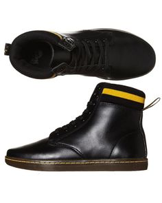 SURFSTITCH - FOOTWEAR - MENS FOOTWEAR - BOOTS - DR. MARTENS MARTIN CUFF LACE BOOT [UK SIZE] - BLACK