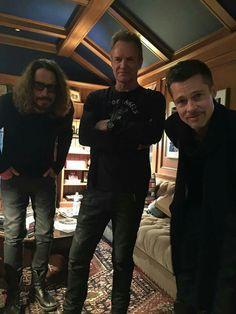 OMG ❤ Chris Cornell Sting & Brad Pitt ❤