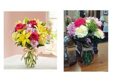 """I ordered a bouquet to be delivered to my sister in the hospital.I paid $58 for the bouquet and it was supposed to be roses, lilies, carnations and daisies (left side of attached picture).My nephew took a picture of what was delivered (right side). There were no lilies and some of the daisies were dead. I emailed them and complained. They apologized and promised to deliver a better bouquet the next day, at her home because she was released from the hospital.No flowers the next day..."" Find…"