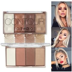 TWO. O Contour Bronzer Gesicht Shading Puder Palette Textmarker Make-up Gesicht Cont . TWO. O Contour Bronzer Gesicht Shading Puder Palette Textmarker Make-up Gesicht Cont . Color Contour, Cream Contour, Contour Kit, Contour Palette, Makeup Palette, Liquid Highlighter, Highlighter Makeup, Contour Makeup, Concealer