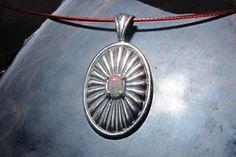 Welo Opal in Sterling Silver Sunburst on Red Memory by KJOFineArt, $24.95