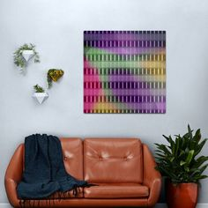 Retro Futuristic Colorful Stripes Metal Print Copper Wall Art, Industrial Wall Art, Abstract Metal Wall Art, Interior Design Themes, Quirky Home Decor, Retro Futuristic, Home Decor Paintings, Futurism, Wall Design