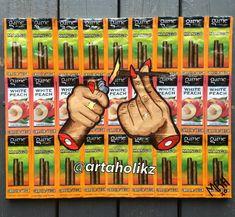 Follow my art page: artaholikz. Weed smoke 420. Smoke weed everyday. Cigarillo pop art . Mary jane