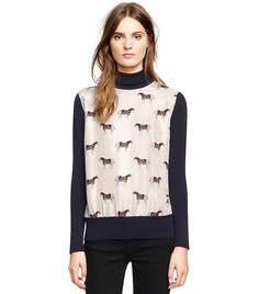 #ToryBurch Equestrian Sweater Top