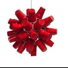 Red solo cup lamp... what else would you decorate with for a redneck party?